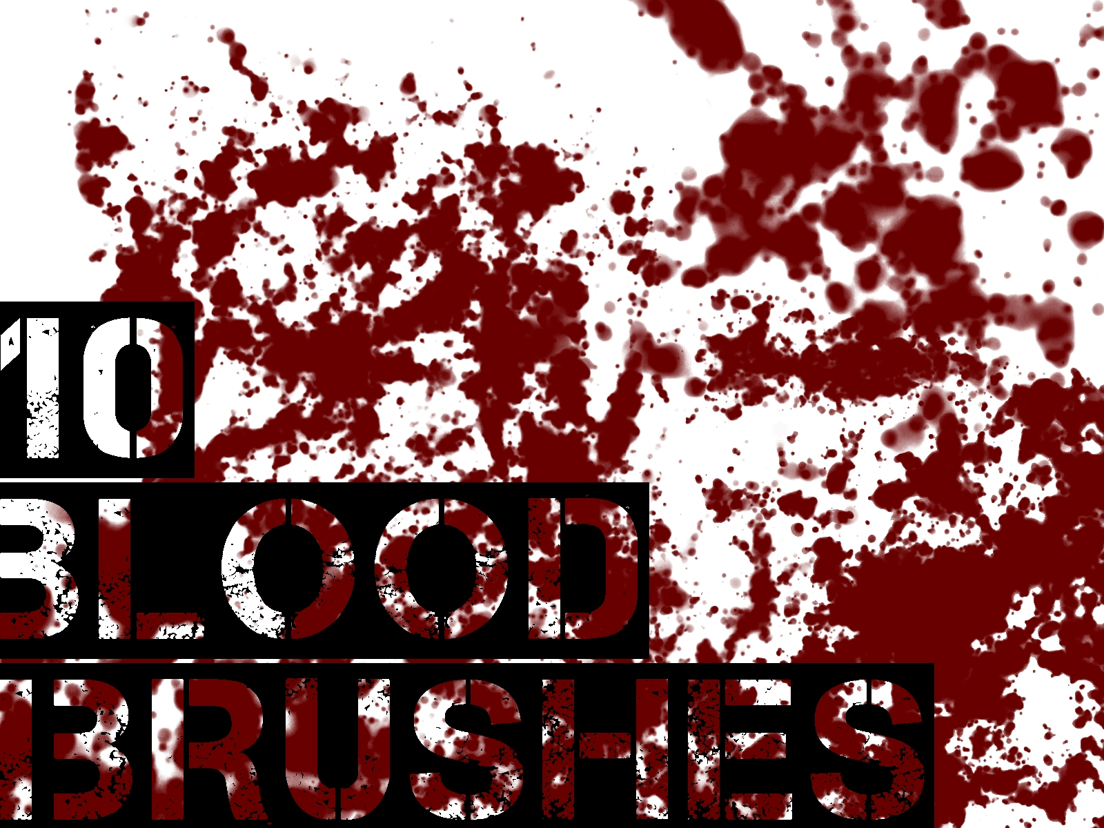 10 Blood Brushes - GIMP by danieeel31