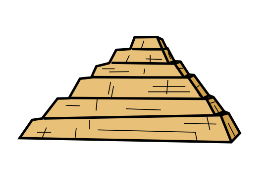 how to draw the great pyramid