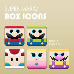 Super Mario Box Icons Pack 1