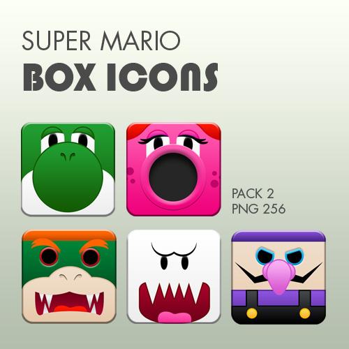 Super Mario Box Icons Pack 2