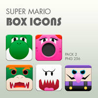 Super Mario Box Icons Pack 2 by DannySP