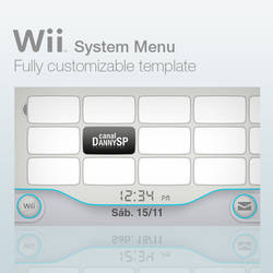 Wii System Menu Template by DannySP