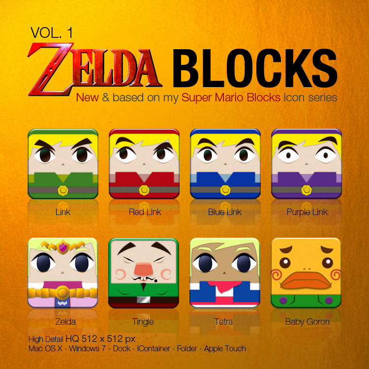 Zelda Blocks VOL. 1 by DannySP