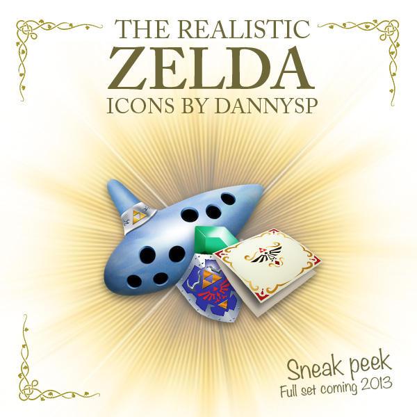 Realistic Zelda Icons (Sneak Peek) by DannySP