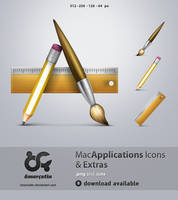 Applications Icons and Extras by omercetin
