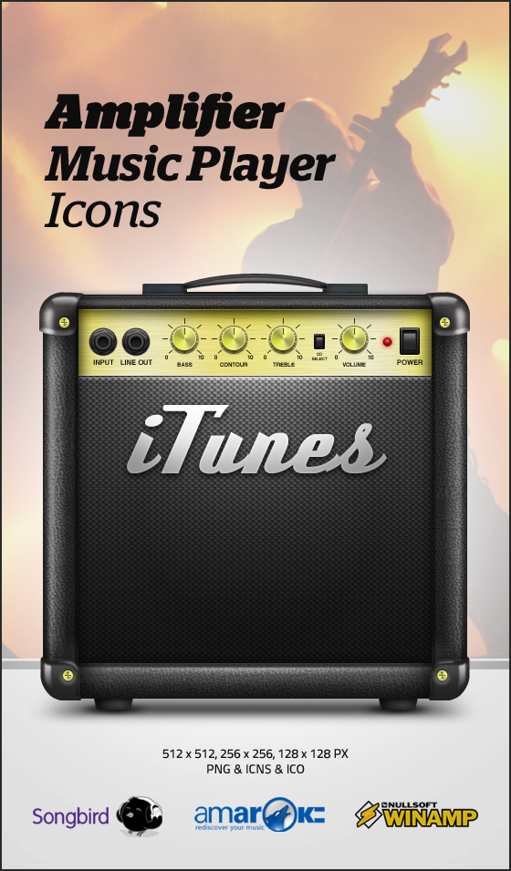Amplifier Music Player Icons