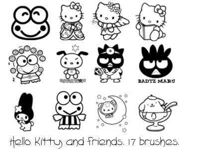 Hello kitty and friends by sneaks77 on deviantart for Coloring pages of hello kitty and friends