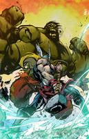 Hulk vs Thor by CallahanColor
