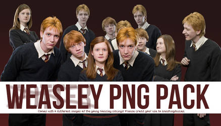 Weasley PNG Pack by smashingdaisies