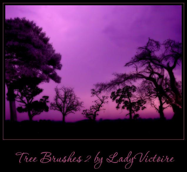 Tree Brushes 2 by LadyVictoire-Brushes