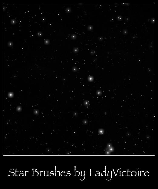 Stars Brushes 1 by LadyVictoire-Brushes