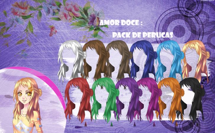 Favoritos Amor Doce--Pack de perucas 6 by Helyra on DeviantArt AG57