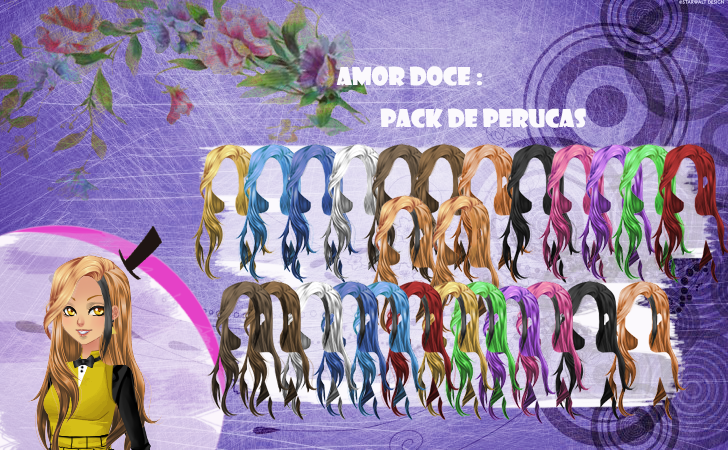 Well-known Amor Doce--Pack de perucas 17 by Helyra on DeviantArt BV34