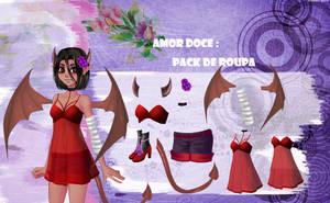 Amor Doce--Pack de roupas 70 by Helyra