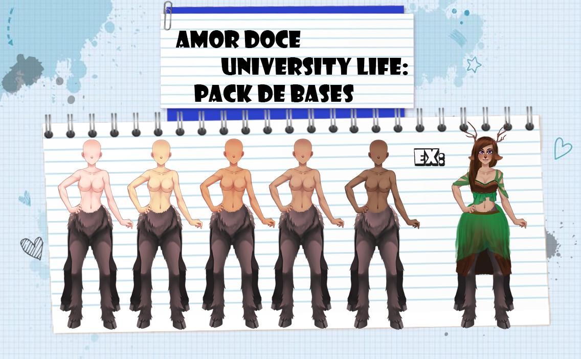 Amor Doce UL--Pack de Bases 1 by Helyra