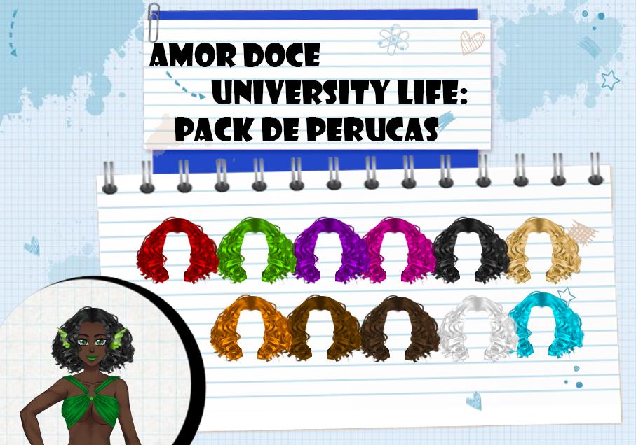 Amor Doce UL--Pack de perucas 5 by Helyra