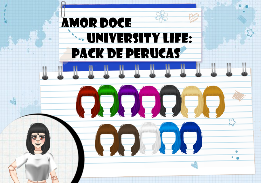 Amor Doce UL--Pack de perucas 6 by Helyra