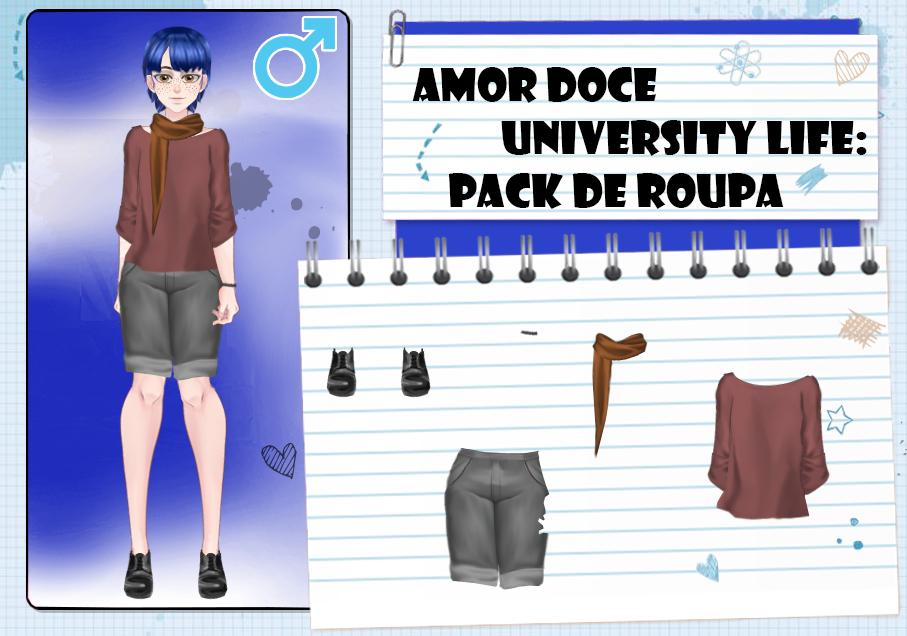 Amor Doce UL-Pack de roupas masculinas 3 by Helyra