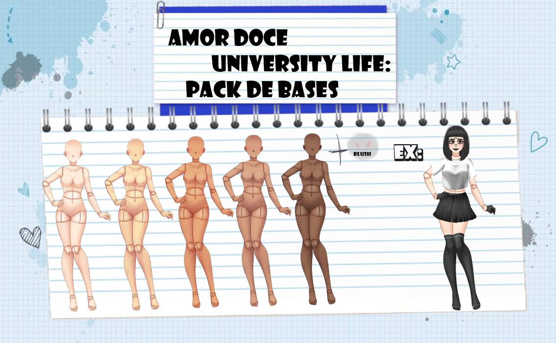 Amor Doce UL--Pack de Bases 4 by Helyra