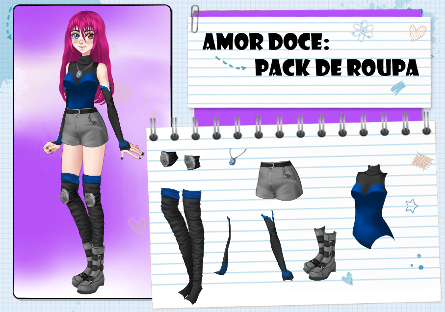 Amor Doce--Pack de roupas 83 by Helyra