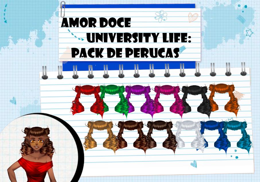 Amor Doce UL--Pack de perucas 15 by Helyra