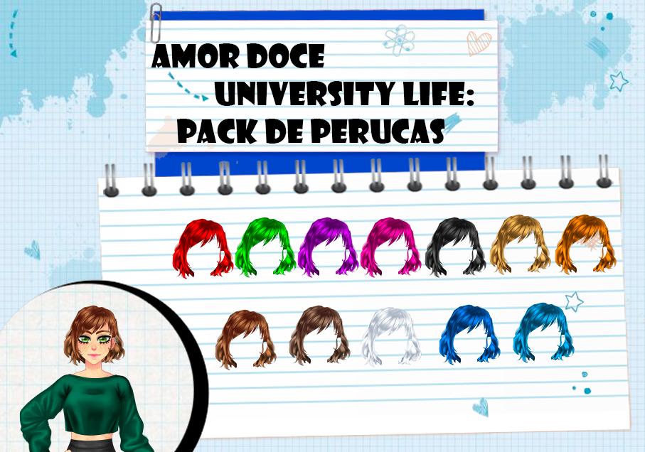 Amor Doce UL--Pack de perucas 16 by Helyra