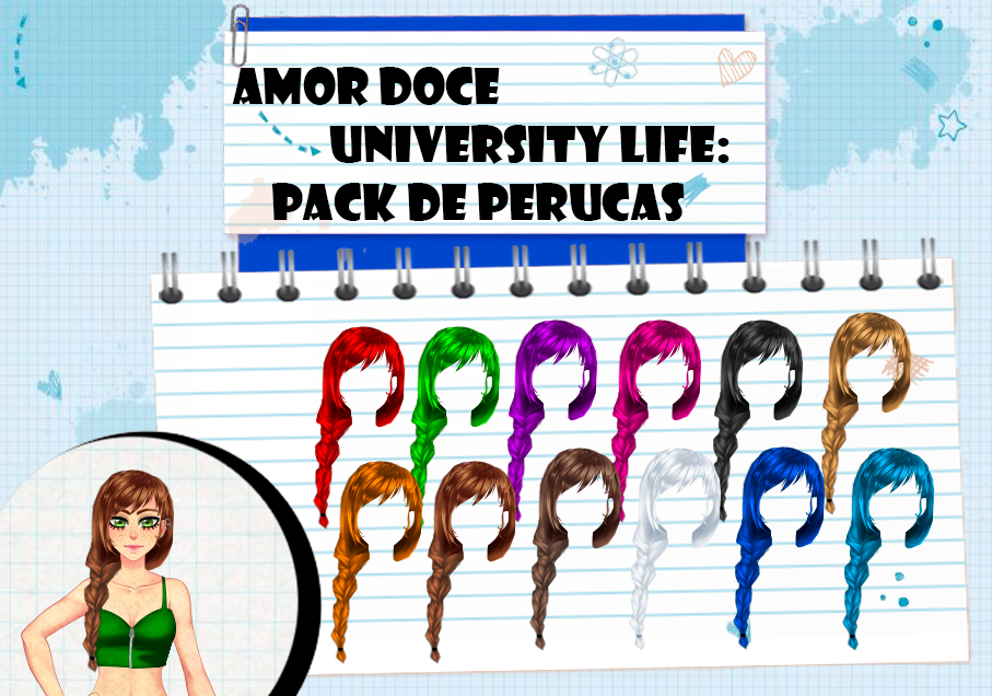 Amor Doce UL--Pack de perucas 17 by Helyra