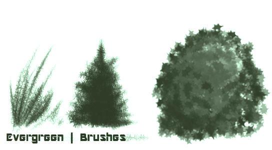 Evergreen Brushes by sugarbanshee