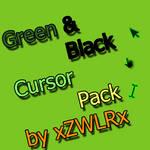 Green and Black Cursor Pack by xZWLRx