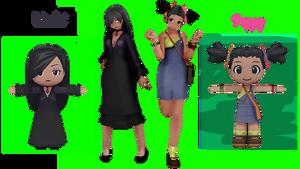 (My Sims) Violet + Poppy Nightshade DL