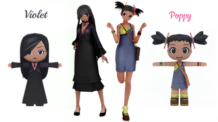 (My Sims) Violet + Poppy Nightshade DL by Bubble123Gum