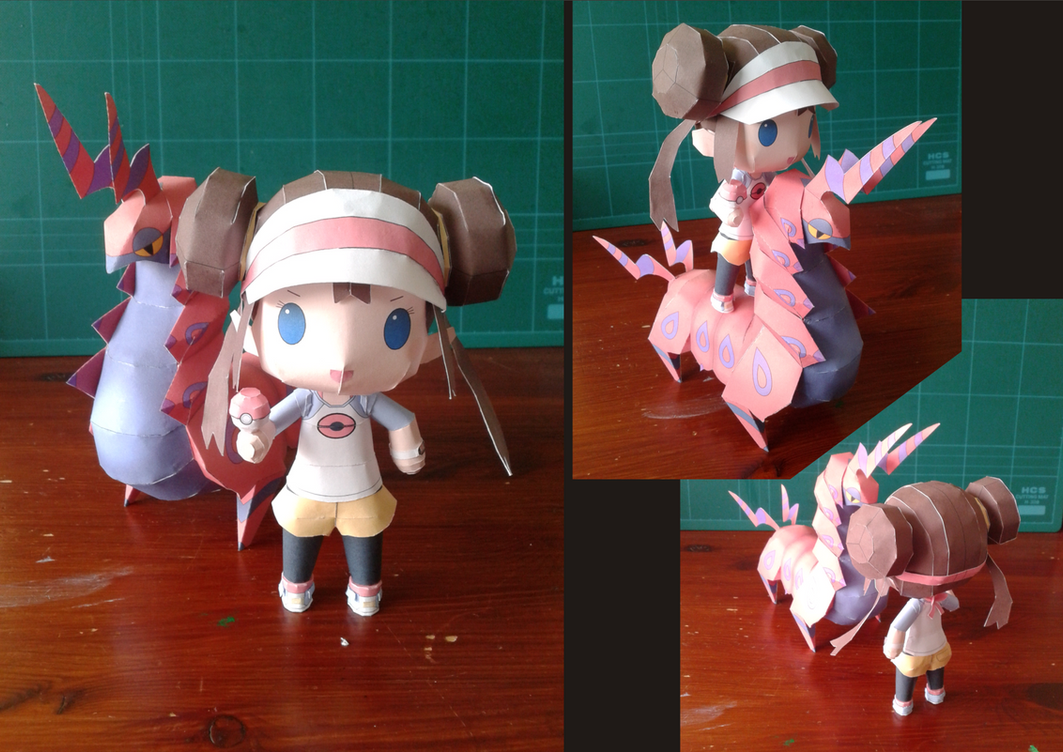 This papercraft is a chibi Rosa (Mei), the female player character in ...