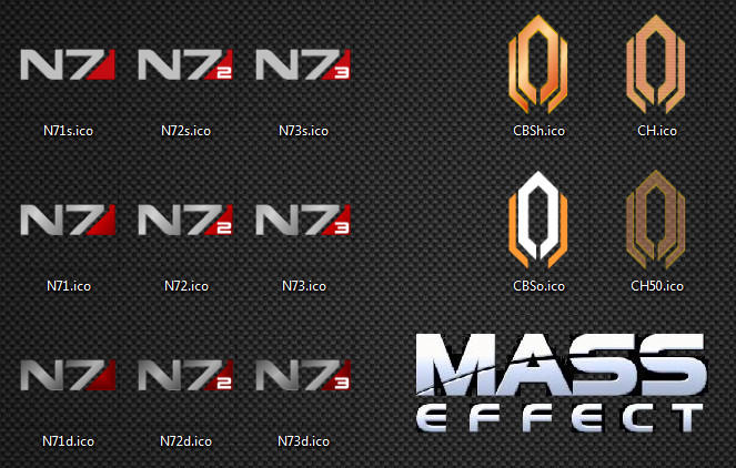 Mass Effect Icon Pack by NT-121784