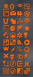 Orange Icon Set by enci