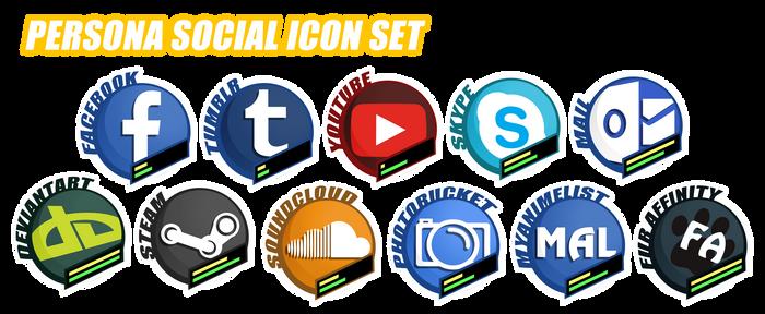 [F2U]Persona Social Icon Set