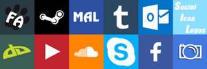 [F2U]Vectored Social Logos