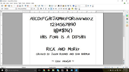 Rick and Morty Font