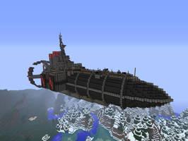 [Minecraft] WIP Zeppelin by SquidEmpire