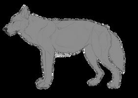 Wolf Lineart by bleuzye
