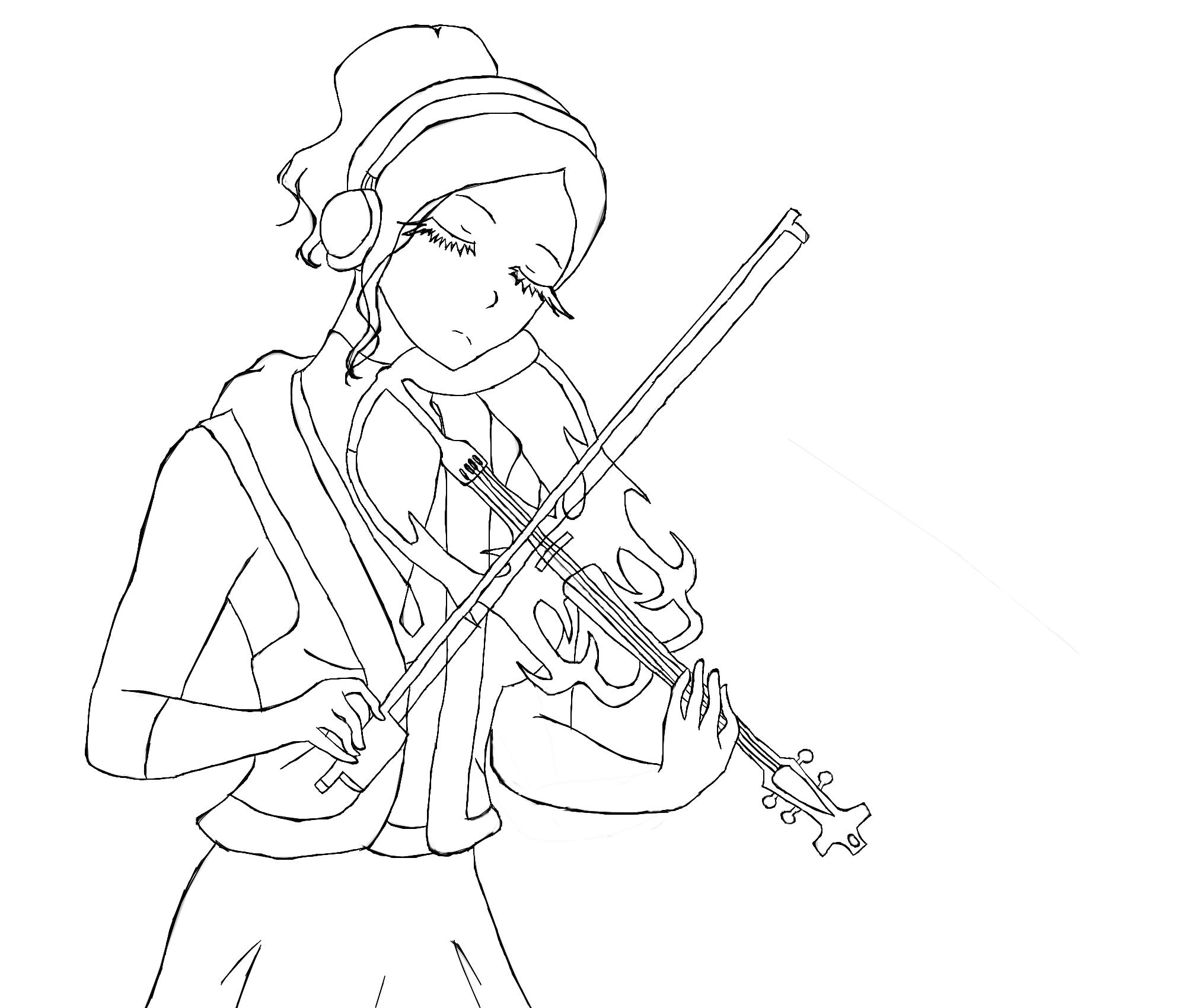 Line Drawing Violin : Violin outline by on deviantart
