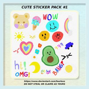 Cute sticker pack #1 by DevianArt fearlexs