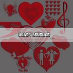 Heart vector brushes