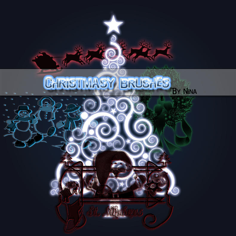 Decorative Christmas Brushes