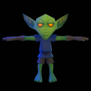 Low-poly Goblin Model Wip