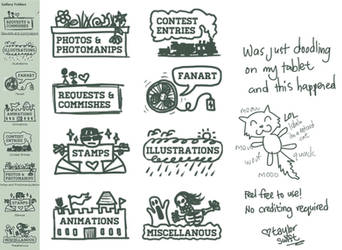 Doodles Gallery Folder Icon Pack by Dei-bon