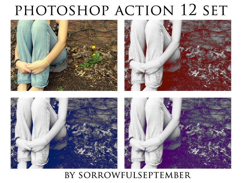 Photoshop Action 12 Set by SorrowfulSeptember