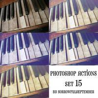 Photoshop Action 15 Set by SorrowfulSeptember