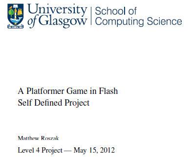 A Platformer Game in Flash by KupoGames