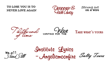 Institue Lyrics Image Pack by angelicmoonfire