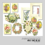 Vintage Flowers PNG Pack